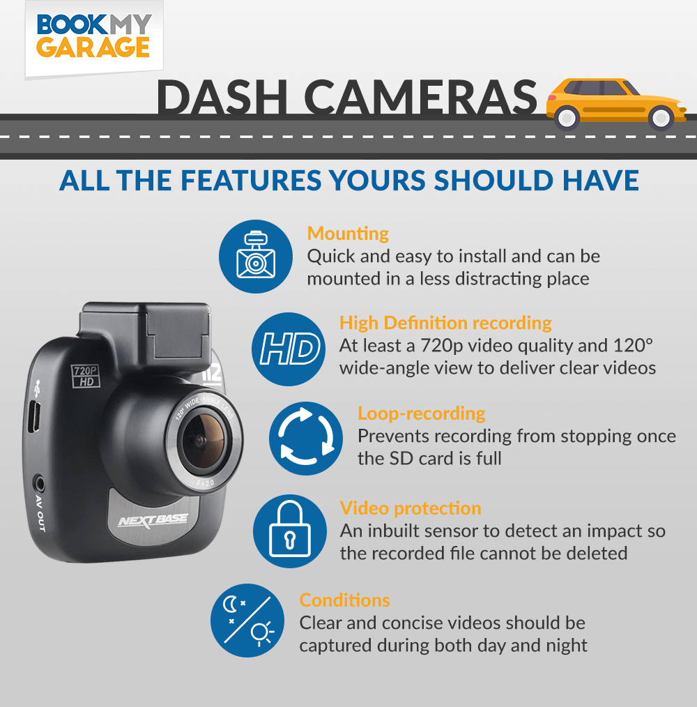 Dashboard camera infographic: How to choose the best dashcam