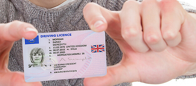 Close up image of clean driving licence