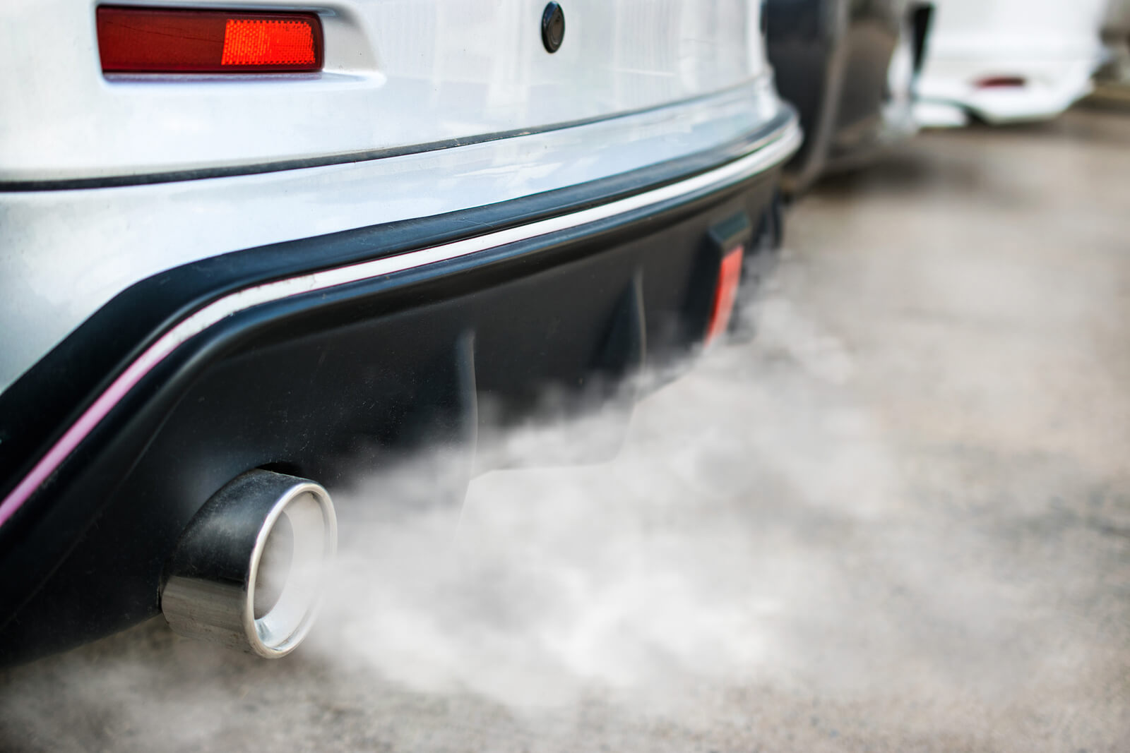 exhaust blowing lots of smoke into atmosphere - main reason why people question if they should buy a diesel car or not