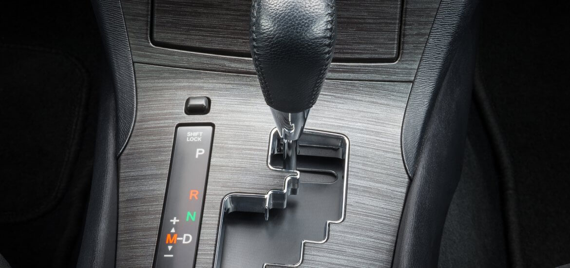 Semi-Automatic Transmission Gearshift Stick; Close-up View Of Lever