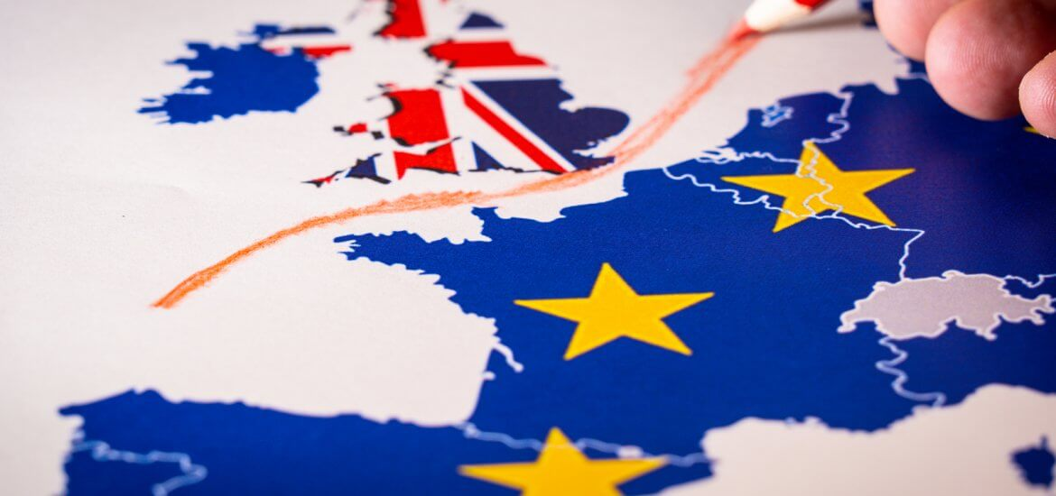 red line separating UK from EU