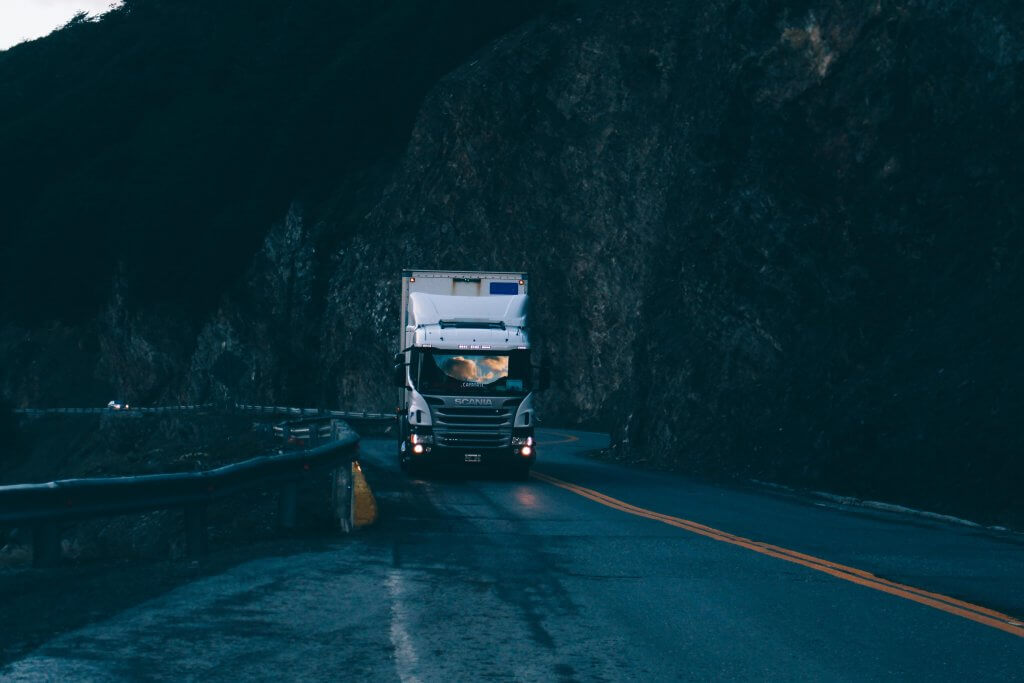 Truck in a haunted road