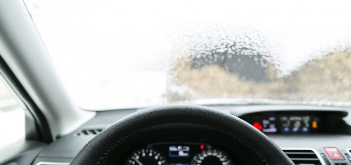 Use of air conditioning during winter to defrost windscreen of snow and ice