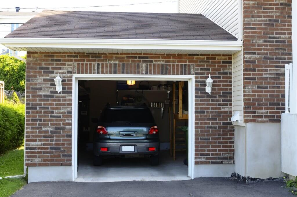 car in garage to prevent theft