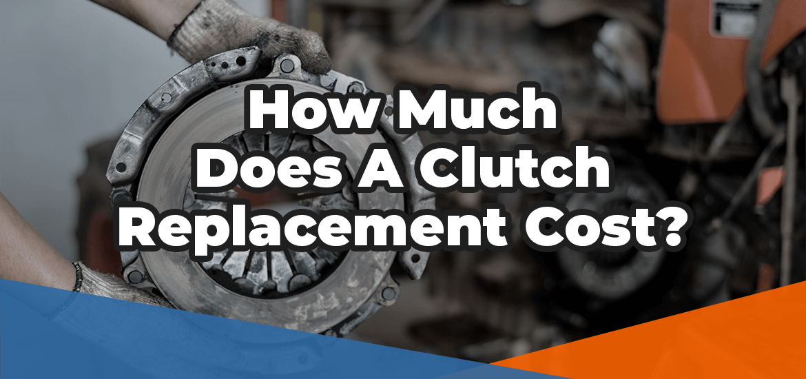 How much does a clutch replacement cost in white over the image of a clutch disc