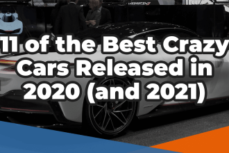 11 of the best crazy cars released in 2020 and 2021 over the top of an Aston Martin Valkyrie car