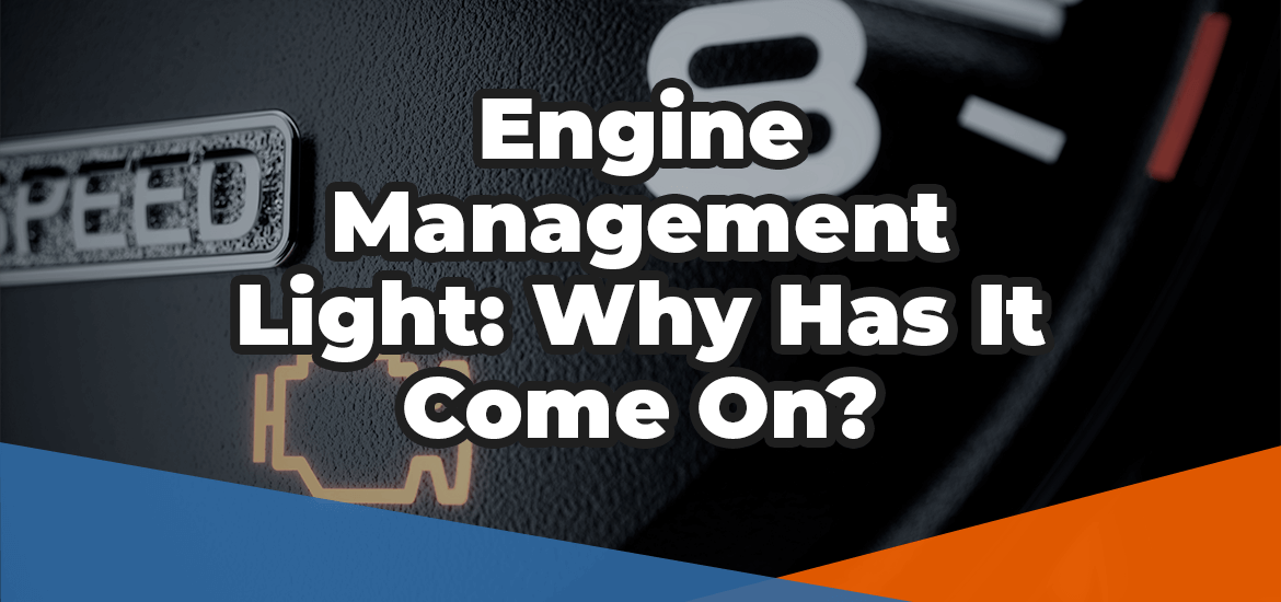 Engine Management Light: Why has it come on? in white letters over an image of a check engine light