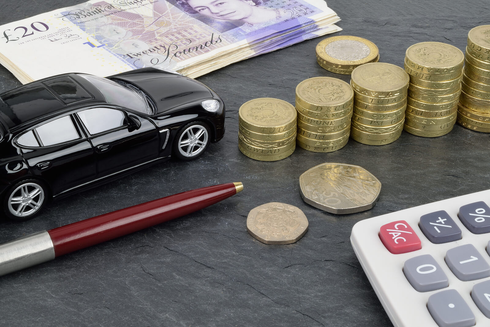 representation of car finance options associated with buying a car