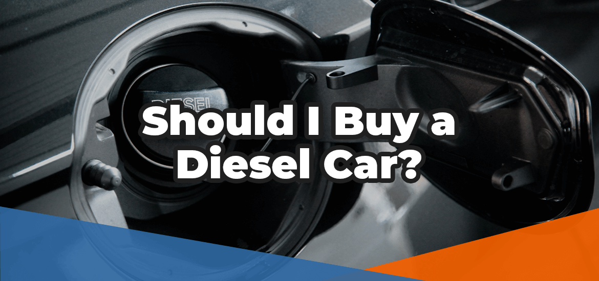 Should I buy a diesel car in white text imposed over the image of a diesel fuel tank