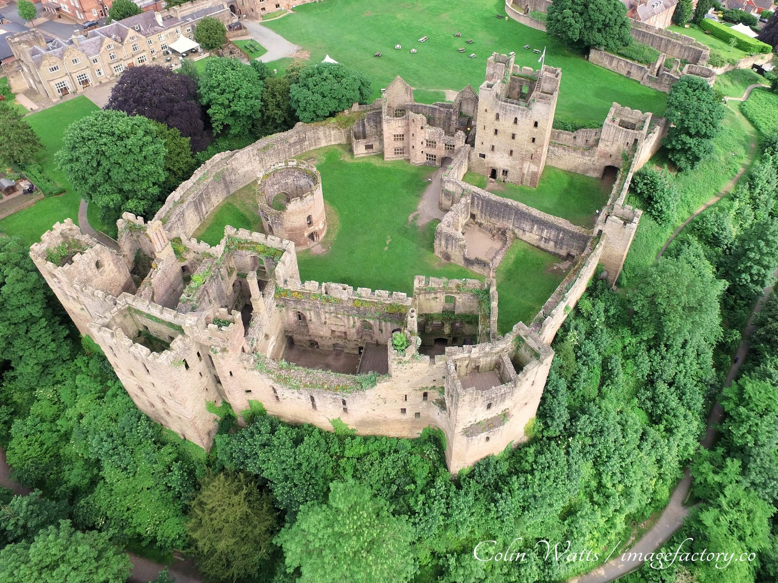 Ludlow Castle, Ludlow, Shropshire, UK, another great outdoor stop for your spring 'staycation'