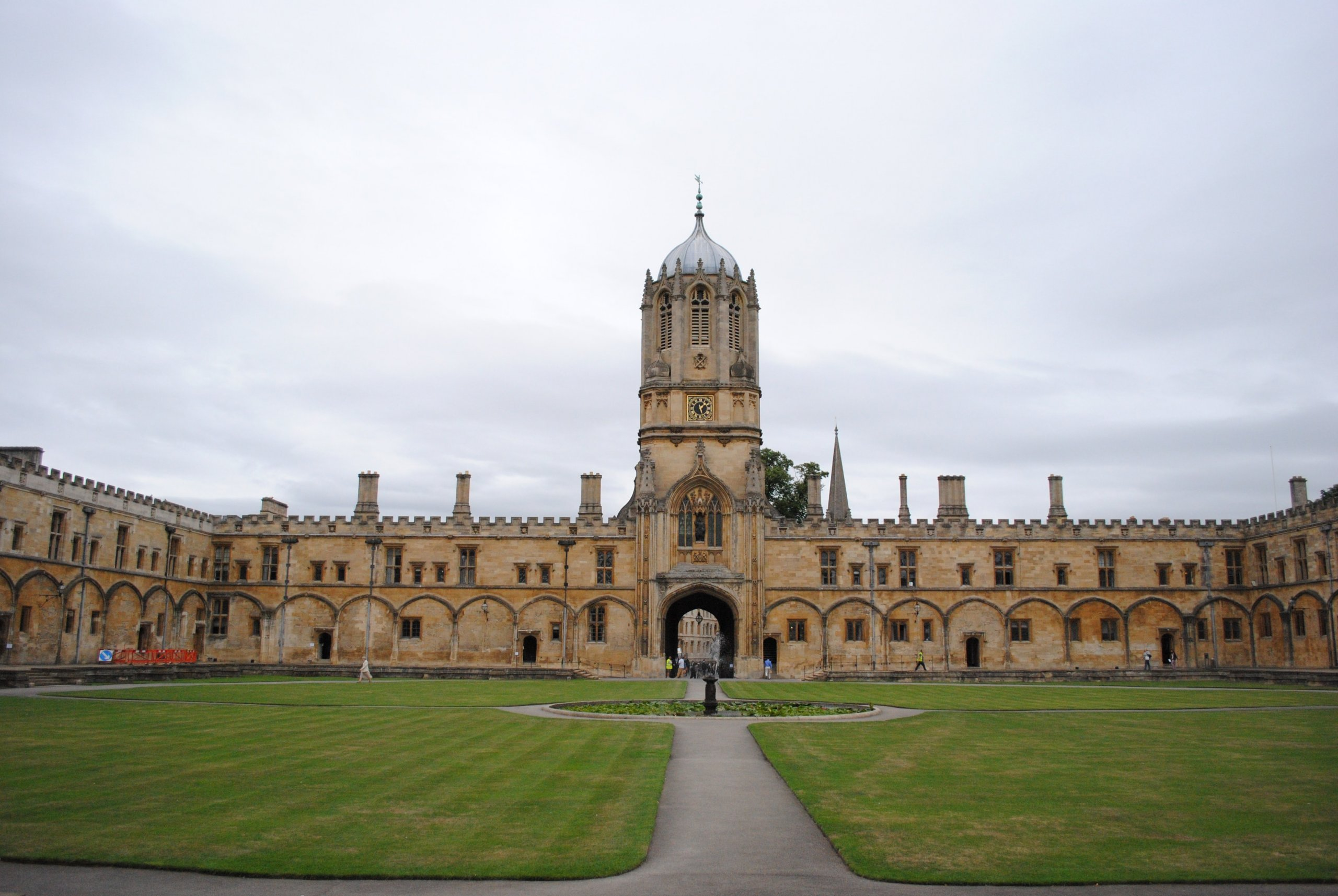 Oxford university main campus and courtyard, Oxford, UK