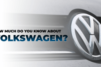 How much do you know about Volkswagen in blue text over a white background with the VW car and logo included
